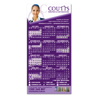 Calendar Fridge Magnet-72mm x 147mm